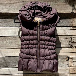 🌻Michael Kors Brown Down Puffer Vest Size Small